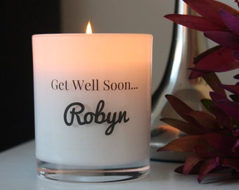 Personalised Get Well Soon Soy Candle- LARGE