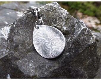 Fingerprint Keyring, silver fingerprint jewellery, fingerprint Keychain, fingerprint jewelry