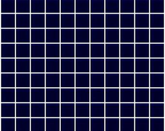 1-inch navy blue glass tile (J1301)
