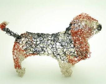 Bassett hound wire sculpture