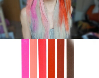 6 Best Temporary Brown Red Ombre hair Dye for dark and light hair - Set of 6 | DIY Red Ombre hair Chalk for easy and simple hair coloring