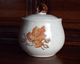 Metlox Poppytrail Sugar Bowl; Metlox Poppytrail Woodland Gold
