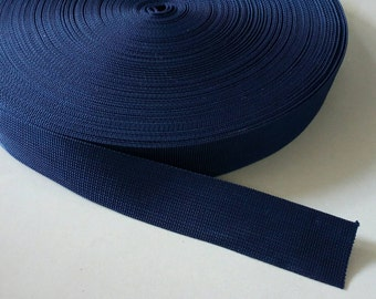 5 Yards, 1.5 inch (3.8 cm.), Polypropylene Webbing, Navy Blue, Key Fobs, Bag Straps, Purses Straps, Belts, Tote Bag Handle