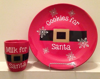 Christmas Cookies for Santa Plate and Cup Set