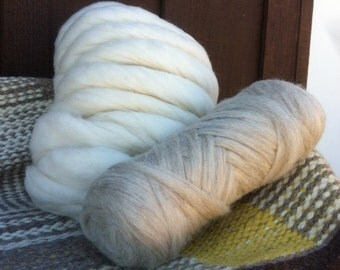 Navajo Churro Roving - Kai - white 13 ounce / Mai - beige - 16 ounce