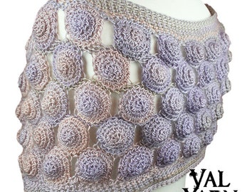 Elegant crochet shawl shrug wrap pastel gradient colors gift for her Valentines day wife gift girlfriend gift wedding accessory
