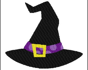 Halloween Witch Hat Embroidery Pattern Design