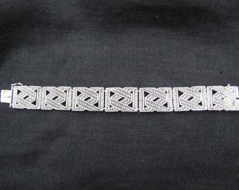 Sterling Silver filigree bracelet.