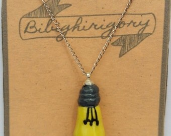 pendant necklace with modeling clay lamp