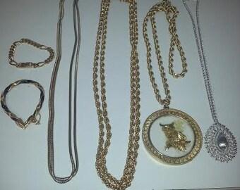 Vintage Monet Designer Jewelry Lot (4 necklaces/2 bracelets)