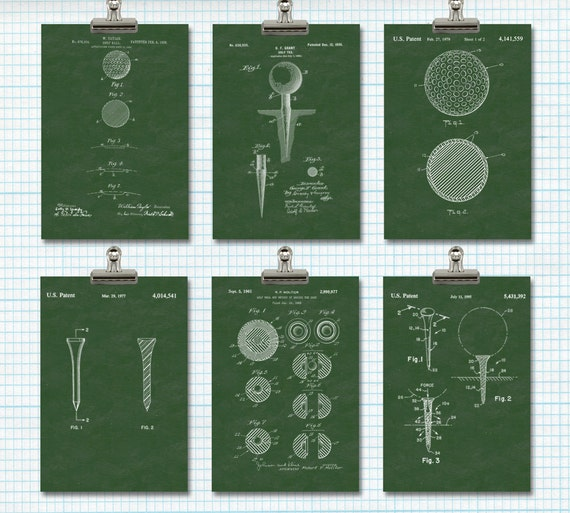 Office Pictures For Walls Golf: Items Similar To Golf Patent Print Sport Wall Art Golf