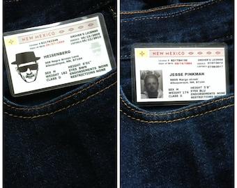 Set of 2 Novelty Breaking Bad Novelty ID's - Heisenberg and Jesse Pinkman