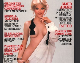 Mature Vintage Playboy Mens Girlie Pinup Magazine : October 1981 EX+ White Pages Intact Centerfold