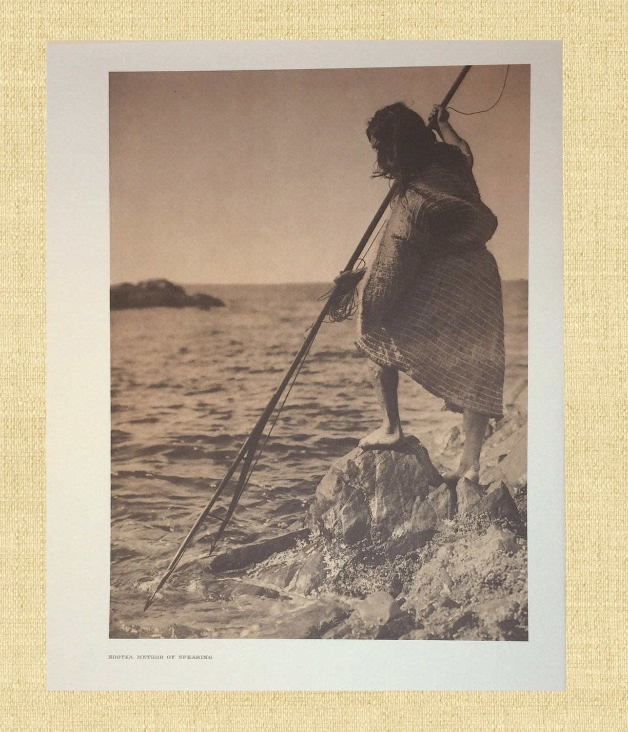 Vintage Native American Photo Curtis Print Vintage Indian