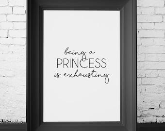 SALE 70% OFF princess wall art decor, princess decor, princess wall art, princess wall decor, princess decor quote, princess quotes