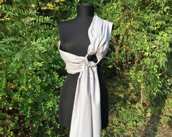 Baby Sling / Baby Ring Sling / Baby Wrap Carrier / FAST SHIPPING - 100% Super Cotton / Gray