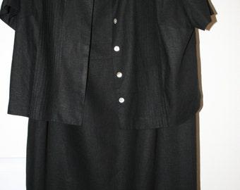 Stylish Black Dress With Sailor Jacket Size 18