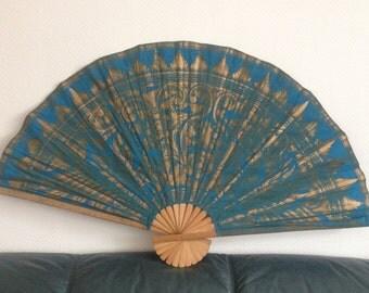 Fan Wall Fans Bamboo, canvas