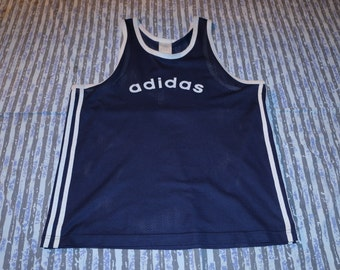 Adidas Basketball Mesh Singlet / Tank Top - Navy - XL - Cyberchic