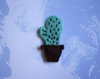 Cactus felt pin