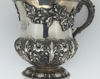 Antique Fine Silver Wine Cup. William IV London, c 1832.