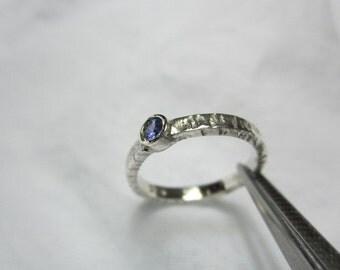 Natural Tanzanite Ring, Hammer Tanzanite Ring, WOOW GORGEOUS