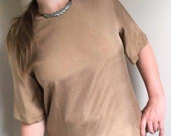 Camel Silk Blouse - Vintage by Anne Klein II
