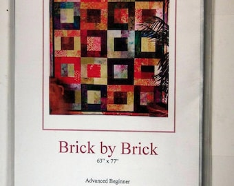 Brick by Brick Quilt Pattern for Advanced Beginner by Rose Mason