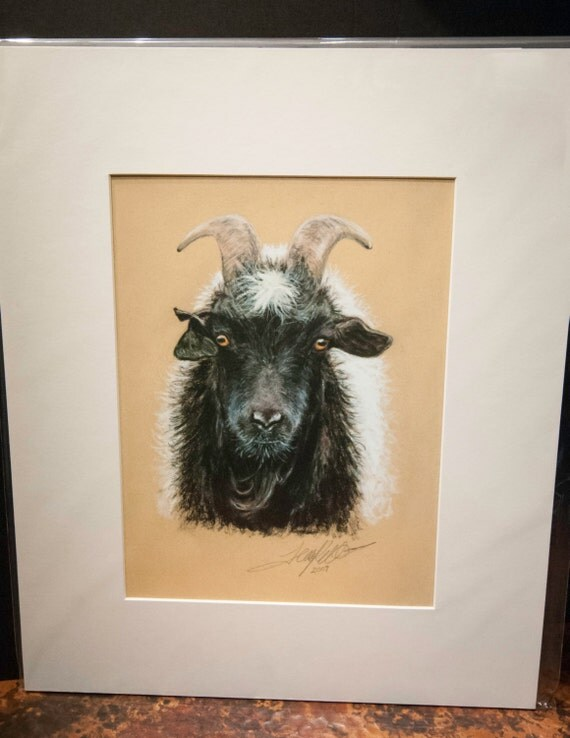 "Fine Art Giclee Print by Terry Kirkland Cook ""Rip Torn the Billy Goat"""