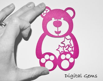 Teddy Bear svg / dxf / eps / png files. Digital download. Compatible with Cricut and Silhouette machines. Small commercial use ok.