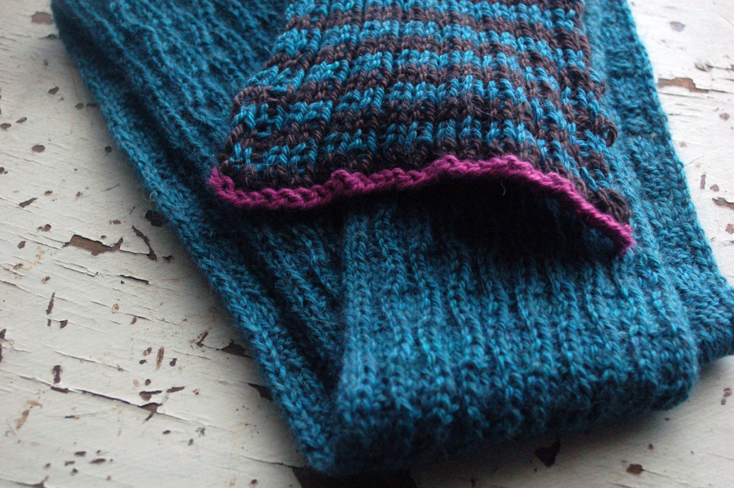 Knitting pattern Scarf to knit Hand knit Scarf Textured and