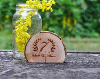 Numbers, Engraved Wood Table Numbers, rustic wedding table numbers, wedding table number, rustic wedding, log wood table number, country wed
