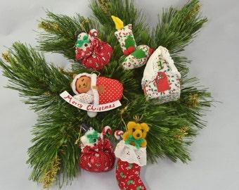 Vintage Stuffed Christmas Ornaments Russ
