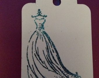 Dress on a hanger Gift tags