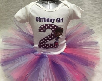 Handmade baby girl second 2nd dr. Mcstuffin tutu outfit