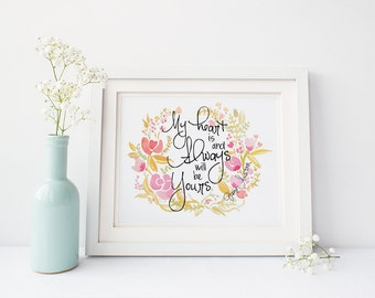Wedding Sign, Printable Wedding Sign, Digital, Romantic, Pride and Prejudice, Jane Austen