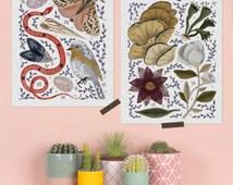 Flora & Fauna - art print set