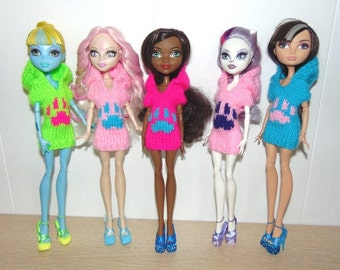 dress for dolls Monster High. Handmade. It is possible to manufacture under the order.