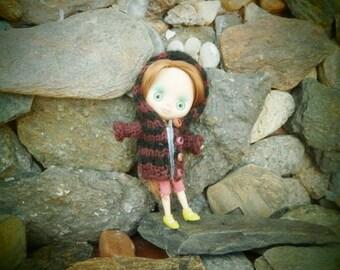 hooded jacket for mini blythe doll Campera con capucha para mini Blythe o mini Pullip Jacket with hood for doll