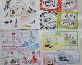 1.Decoupage Napkins | Haute Couture Paris High Fashion|Paris Napkins|Fashion Napkins|Paper Napkins for Decoupage