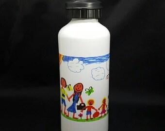 Your Kids Artwork On Water Bottle