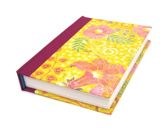 Ethnic Floral Blank Journal - Glitter & Gold Indian Summers Notebook