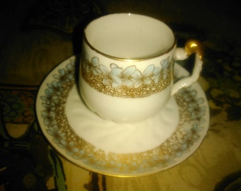 Art Nouveau Limoges Demitasse Cup and Saucer