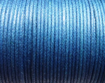 100 meter cotton cord 1mm blue CH080
