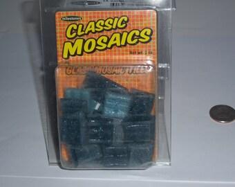 "Classic Mosaic Glass Tiles, 1"" square, 3oz, gray mix"