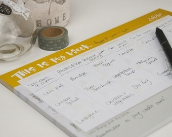 This Is My Week Desk Pad Weekly Planner