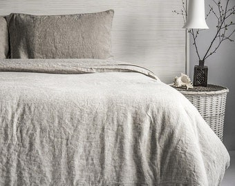 Linen Duvet Cover Stone Washed Super Soft or 3pc Sets SEAMLESS Natural Organic 100% European Flax King Queen Full Double - HOT SALES!
