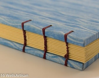 Blue Water Heavy Cover Coptic Stitch Journal - 160 pages