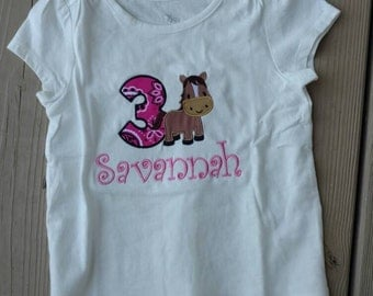 Cowgirl birthday shirt, horse birthday, bandana birthday, girl birthday, boy birthday, western birthday, horse birthday