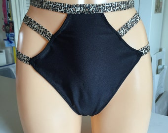 Burlesque Showgirl strappy thong size 12 - READY TO SHIP